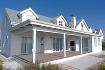 Cape Cod style beach house with large Porch and built in  fireplace