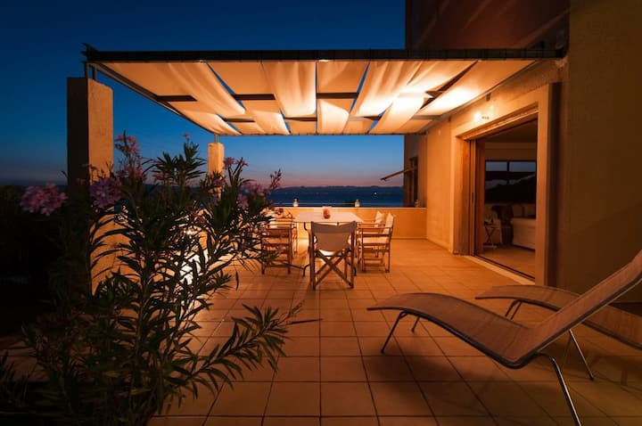 Mani Tower Villa | Modern Seafront Villa