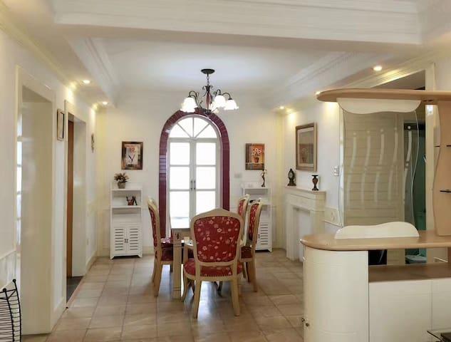 嘉兴市中心南湖区近月河,带钢琴温馨的三室两厅