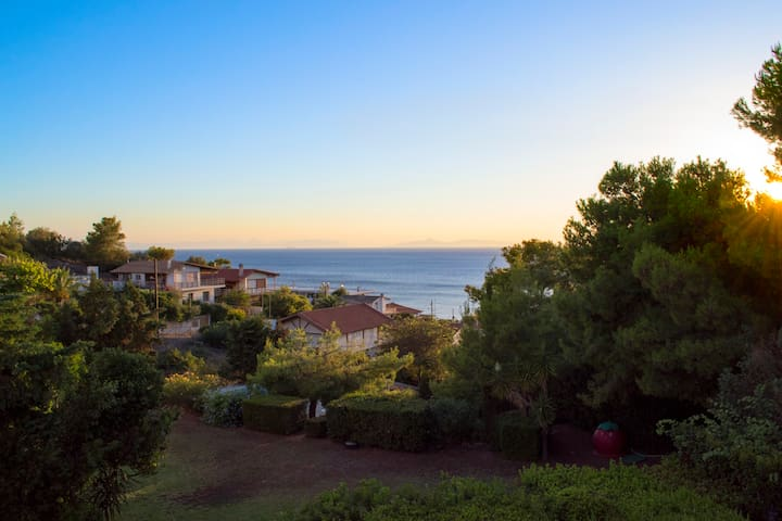 Beautiful house with garden,swimming pool and view - Anavissos - Daire