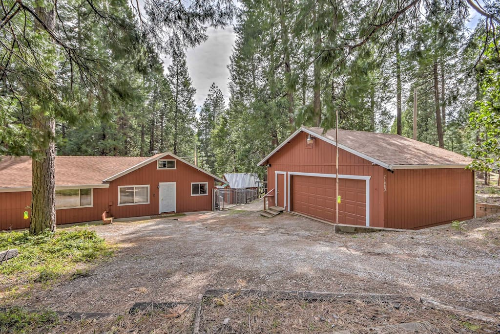 Wood paneling, 2 wood-burning stoves, and rustic decor make this 1,200 square foot home cozy and comfortable.