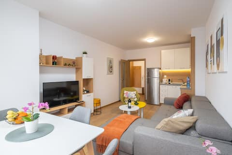 Comfortable apartment with free parking