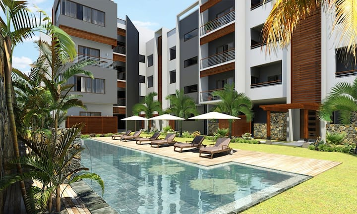 MODERN SEA VIEW 3 LARGE BEDROOMS APARTMENT POOL