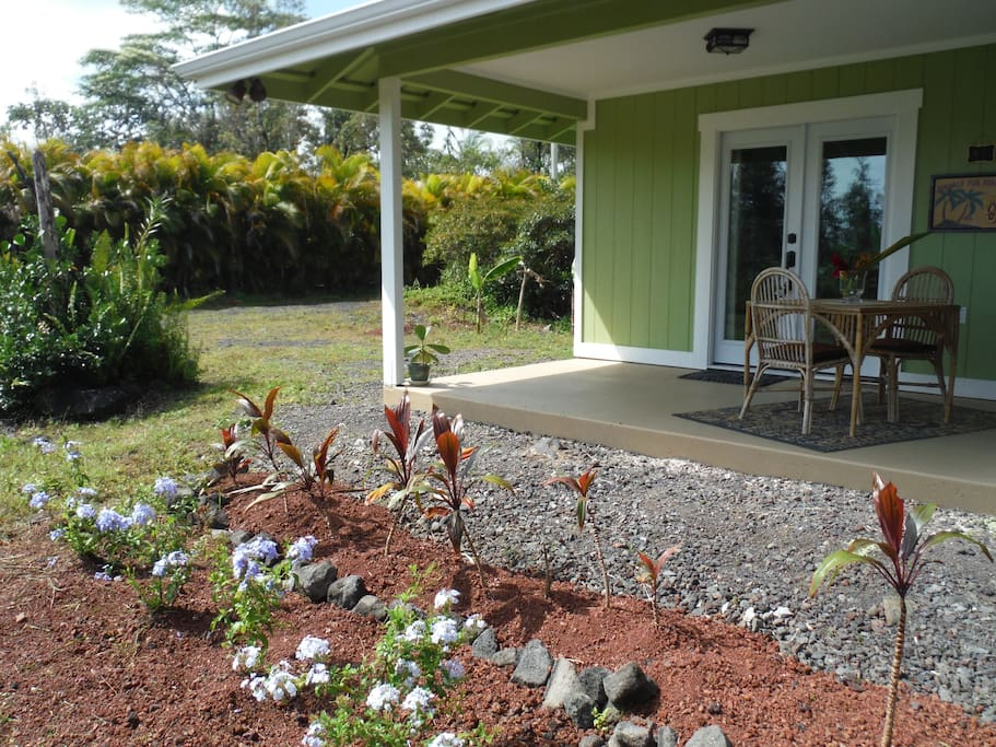 Enjoy a cup of coffee or glass of wine from your lanai.