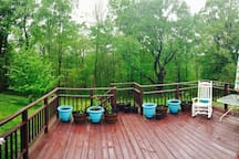 Enjoy your morning coffee on our large deck.