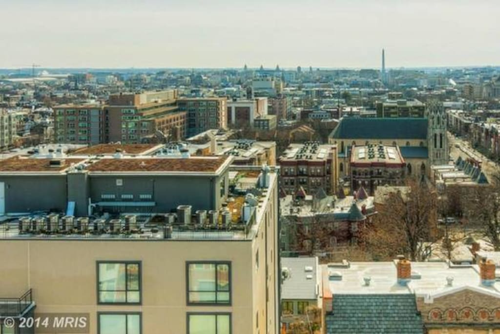 View from the rooftop of DC