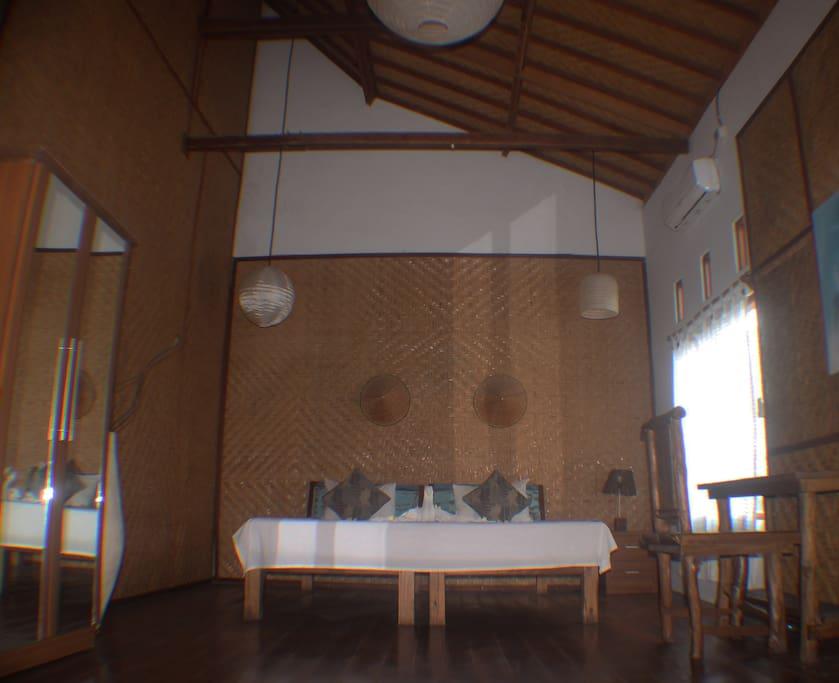 the private room area
