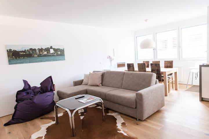 Stilvolle, helle Stadtwohnung zentral in Bregenz - Bregenz - Apartemen