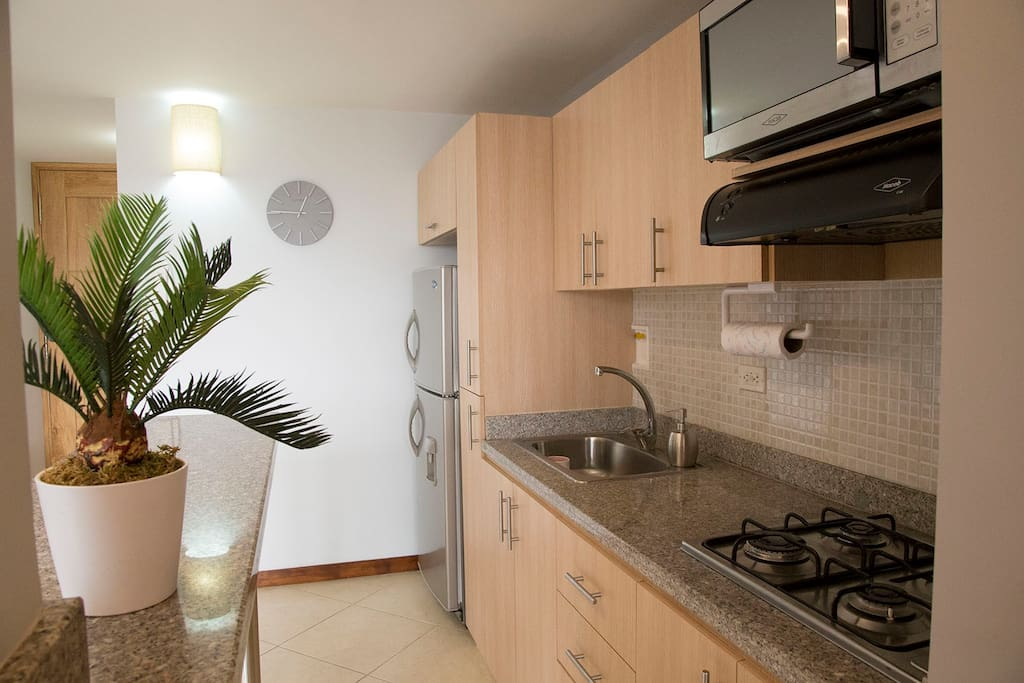 Fully equipped, full-service kitchen Or a quick walk to numerous nice restaurants