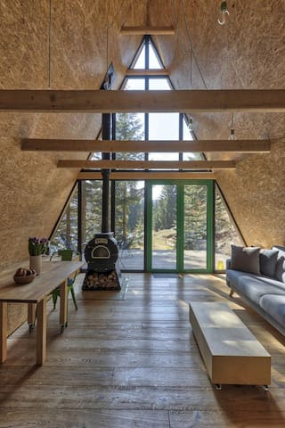 Chalet hidden in the forest