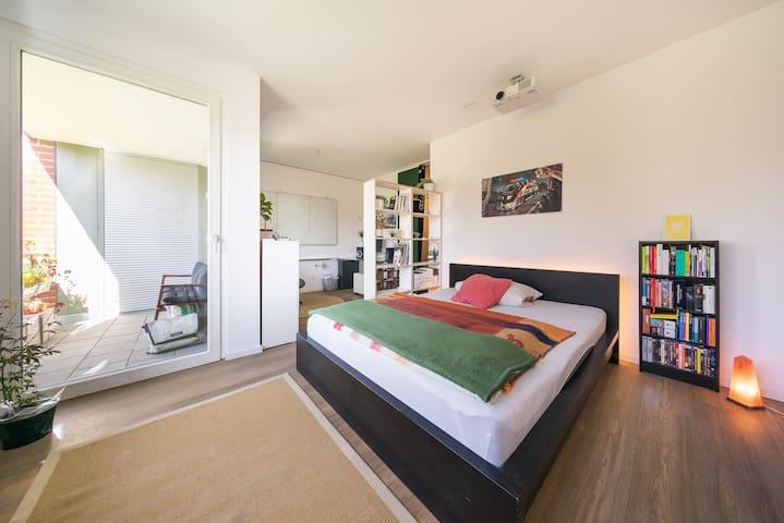 Zimmer mit bodengleicher Dusche & Balkon