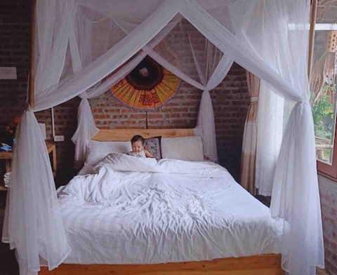Mai Chau Eco Homestay Double Room Garden View