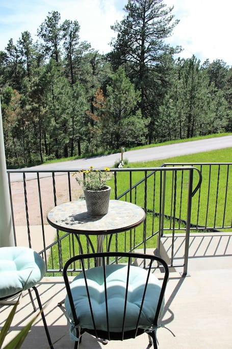 This is the perfect spot to enjoy a cup of coffee or relax and watch the wild deer and turkey.