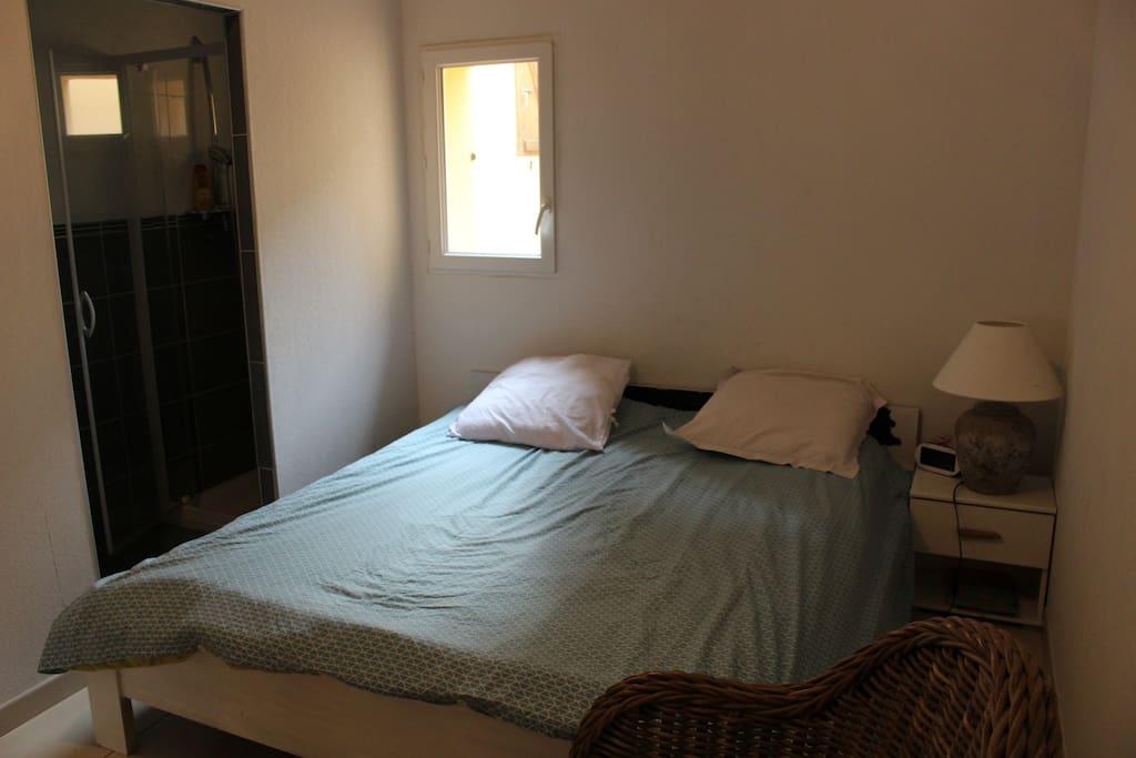 Grande chambre avec lit double, et dressing. Salle d'eau attenante.