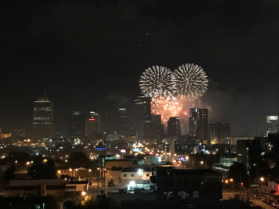 Balcony View on 4th of July!