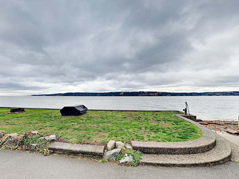 This waterfront home offers the ultimate island lifestyle with expansive views of the Puget Sound.