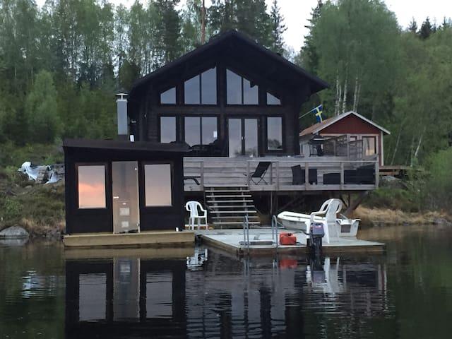 Arvika Glava Glaskogen Timmerstuga Älgsjön