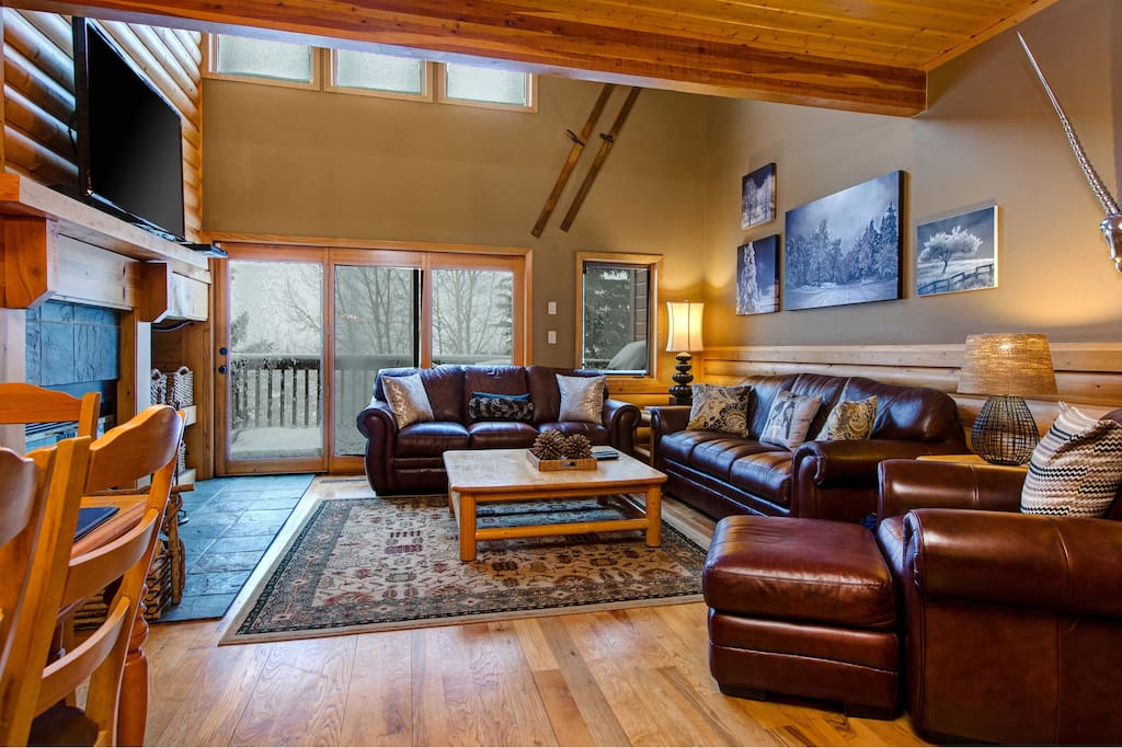 Watch the snow fall through the large living room windows!