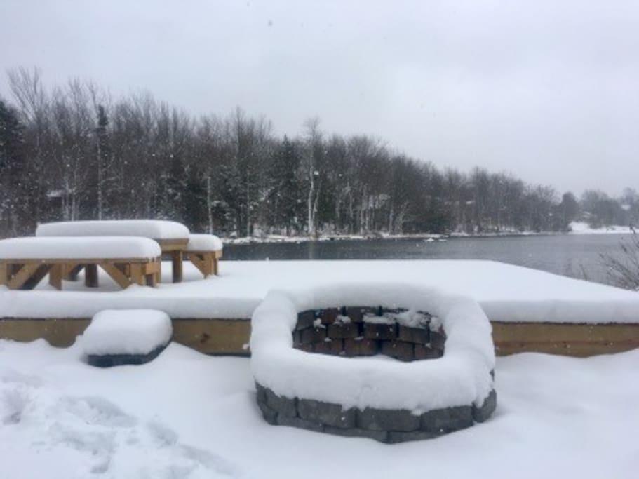 Beautiful Winter lake views
