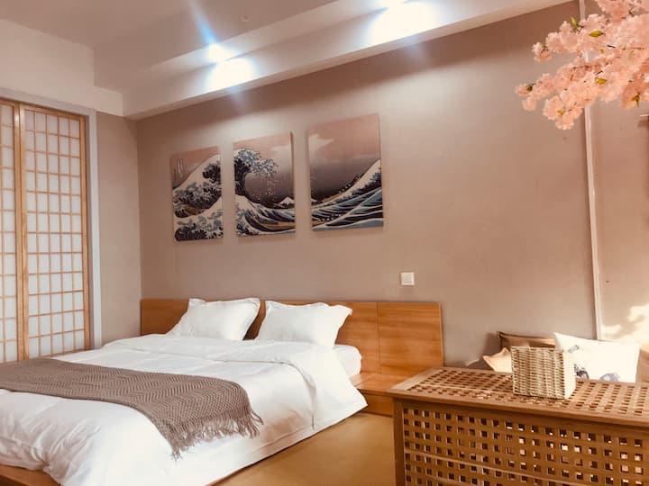 日式北海道投影大床房