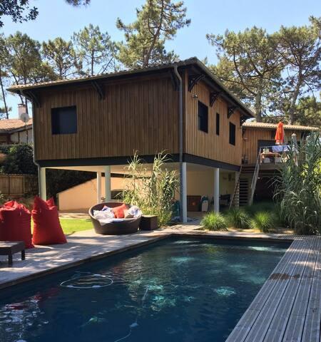 Villa du Pyla piscine plage et dune