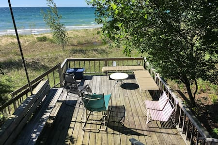 Large Beachfront Home on Lake Michigan