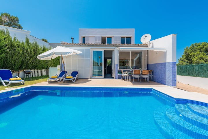 DOMUS GENTI - Villa with private pool in Son Serra De Marina. Free WiFi