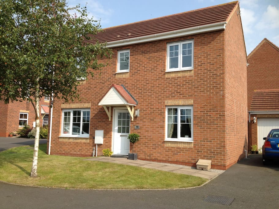 Situated at the rear of a modern housing development, quiet and private