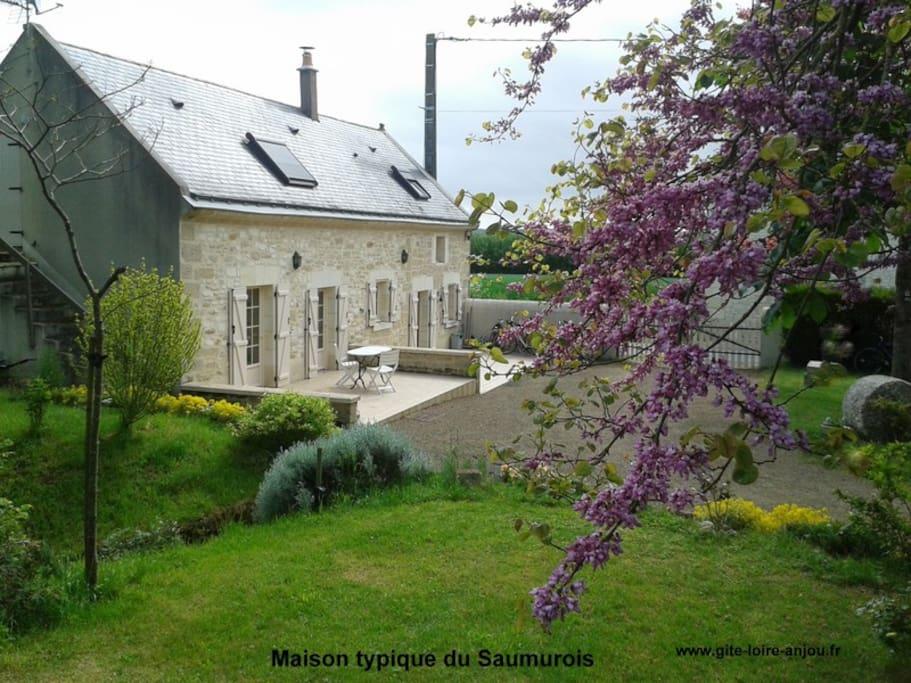 Maison typique des bords de Loire-Terrasses plein sud
