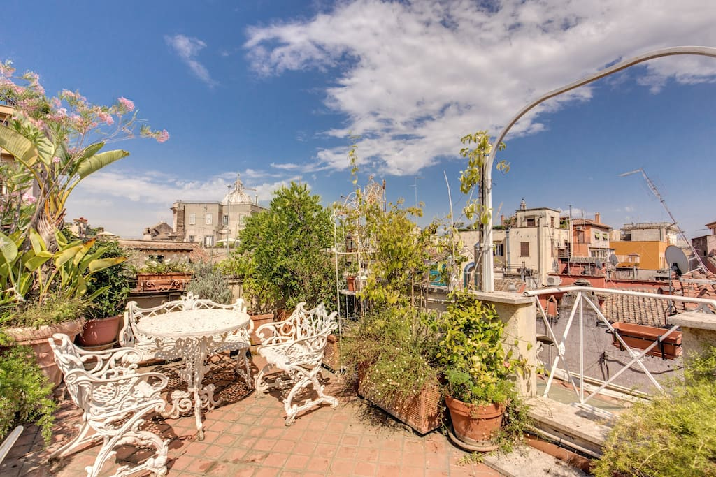 Beautiful terrace with panoramic view
