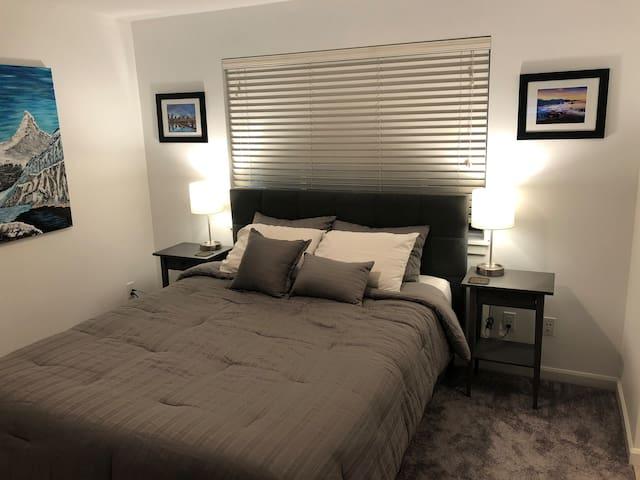 "Private bed/bath amazing location! 43"" 4K SmartTV"