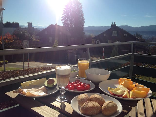Charming Flat with Lake Zurich View - Erlenbach - Apartmen