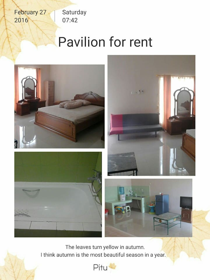 Big luxury room with king size bed plus sofabed, air conditioner, bathroom
