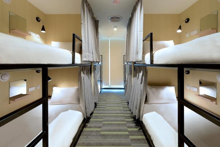 晶贊都會旅店Hostel-8人房之一床-女性