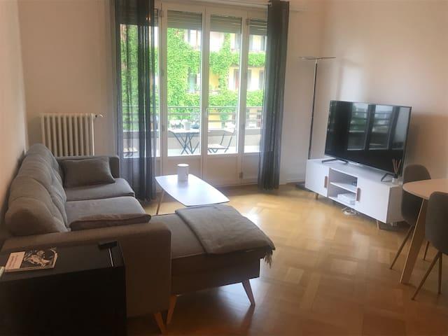 Cozy apartment in Geneva, close to the city center