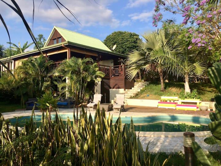 Villa coup de coeur dans jardin tropical