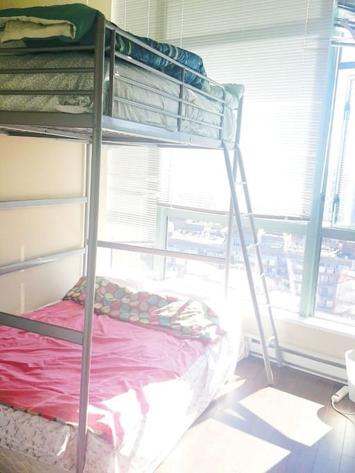 Master-bedroom with queen size and double size big Bunk Bed. it's for you guys