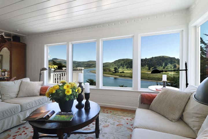 Enjoy the panoramic river and coastal views in comfort