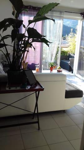 Proche de nice au calme entre mer et montagne - Carros - Appartement