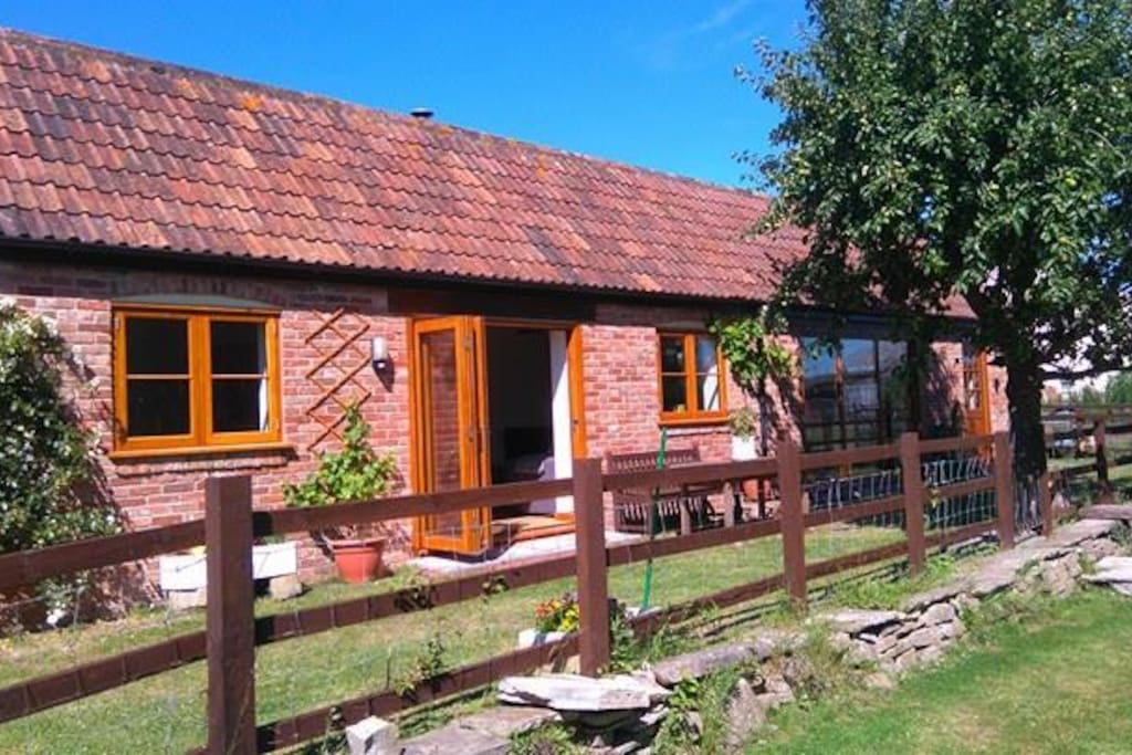 Cottage overlooks the garden and paddock and is very private.