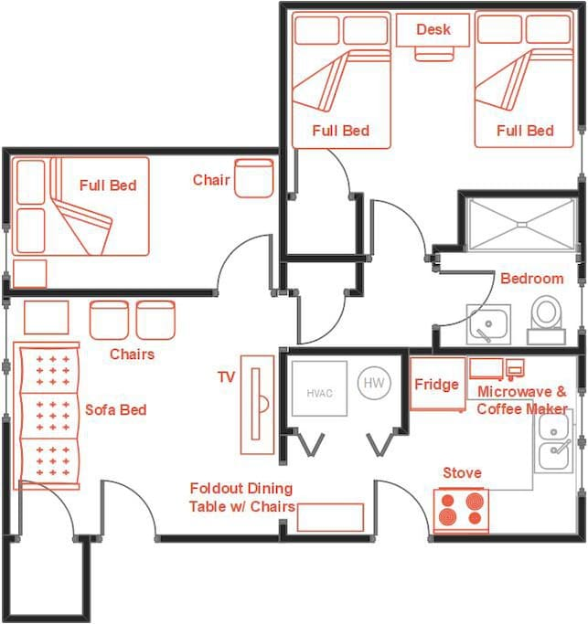 Suite Furnished Layout