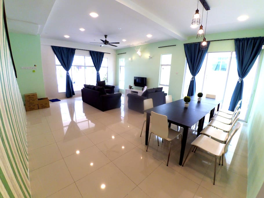 Spacious Living Hall and Dining Area