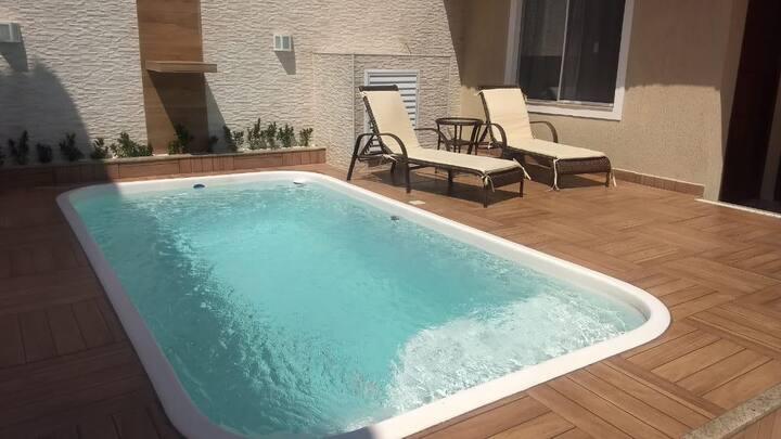 Casa espetacular c/piscina próx. praia Cabo Frio