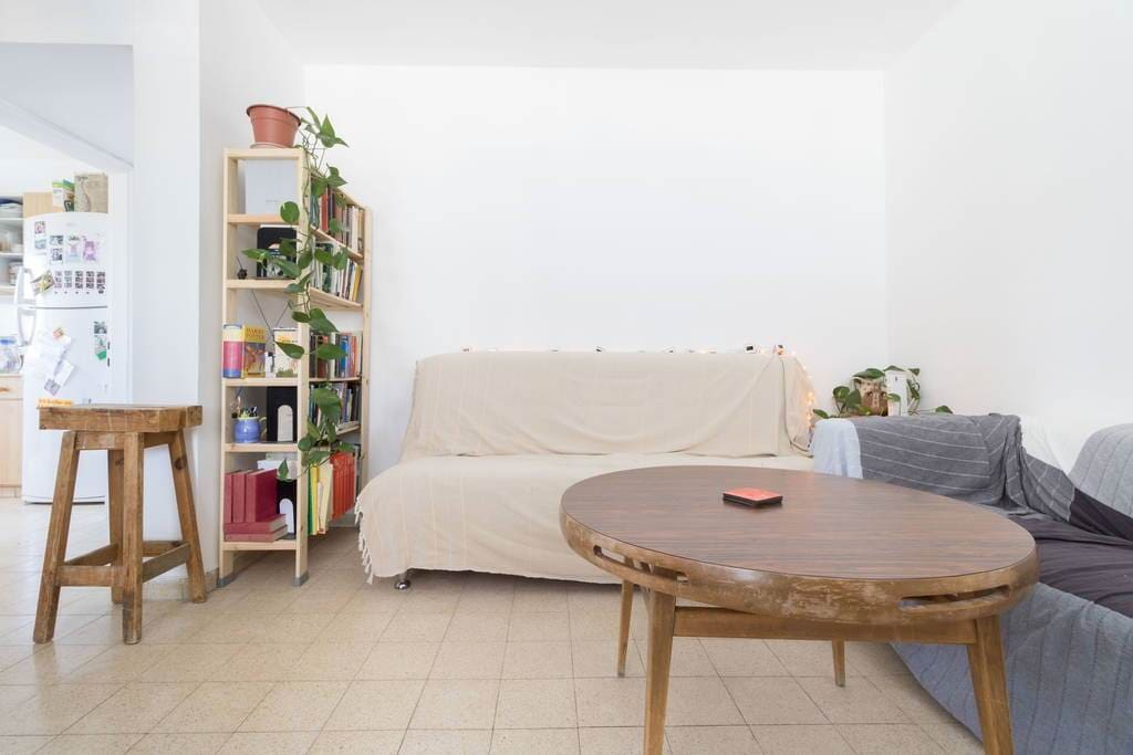 Funky living room with hints of past memories. Spacious and warm. Welcome!