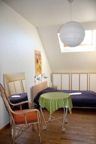 Grote zonnige kamer/studio met ontbijt. - Leuven - Rumah
