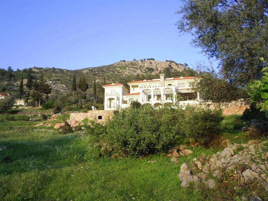 Our wonderful villa on the mountainside