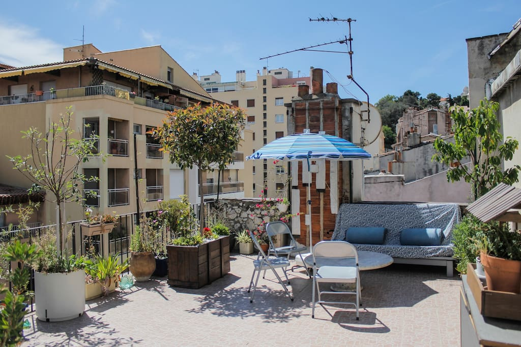 T2 50m2 vieux port terrasse 45m2 apartments for rent for T2 marseille terrasse