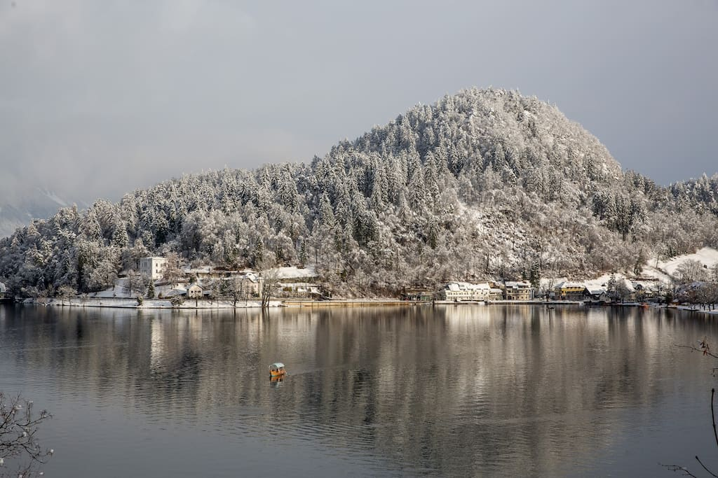 Mlino in winter - view from the Island