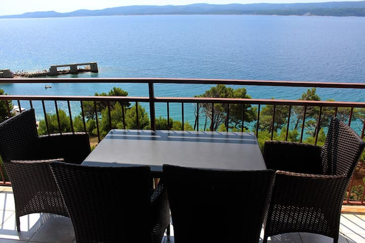 *Great apartment 30 m above the sea* - Lokva Rogoznica - Leilighet