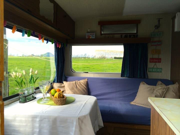 Cozy Caravan on a Dairy Farm